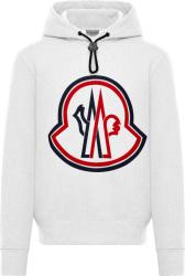 Moncler White Big Logo Patch Hoodie F20918g7461080985