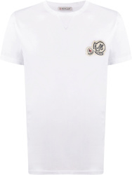 Moncler White Double Logo Patch T Shirt