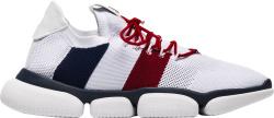 Moncler White Knit Bubble Sneakers
