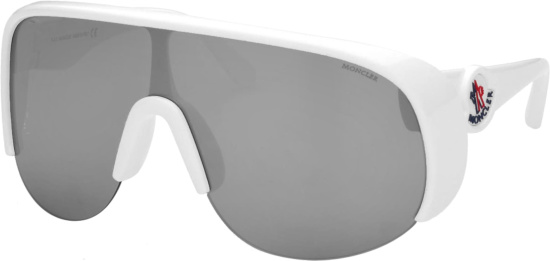 Moncler White Phanthom Sunglasses