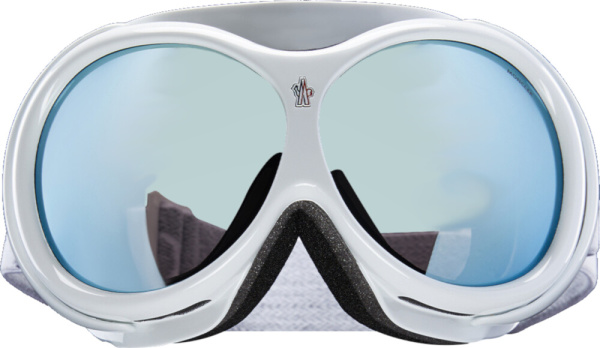 Moncler White Ski Goggles
