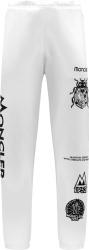 Moncler White Spider Logo Print Sweatpants