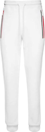 Moncler White Tricolor Zip Joggers