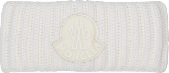 Moncler White Wool Headband