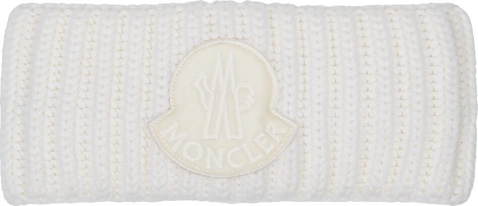 Logo Patch White Wool Headband