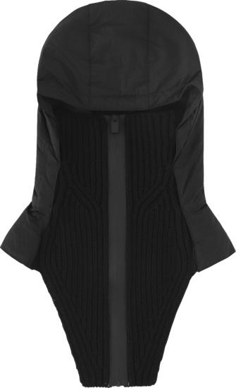 Moncler X 1017 Alyx 9sm Black Zip Hooded Scarf