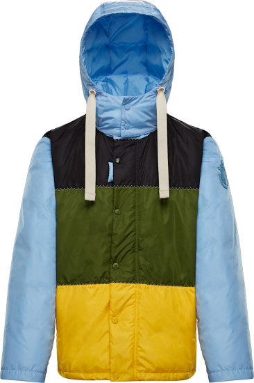 Moncler X Jw Anderson Multicolor Colorblock Borealis Hooded Down Jacket G109e1a00003m1149
