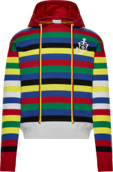 Moncler X Jw Anderson Multicolor Striped Hoodie