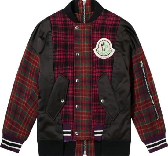 Moncler X Palm Angels Plaid Patchwork Jacket
