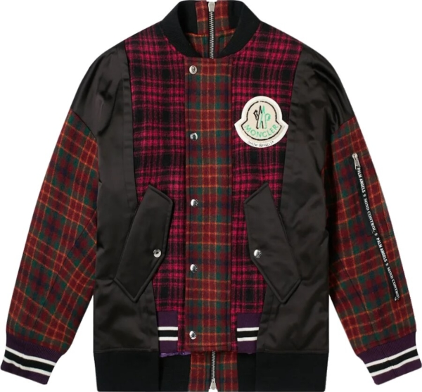Moncler X Palm Angels Plaid Patchwork Jacket