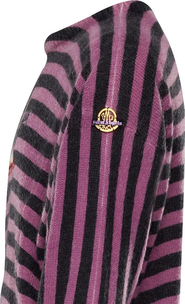 Moncler x Palm Angels Purple & Black Striped Sweater