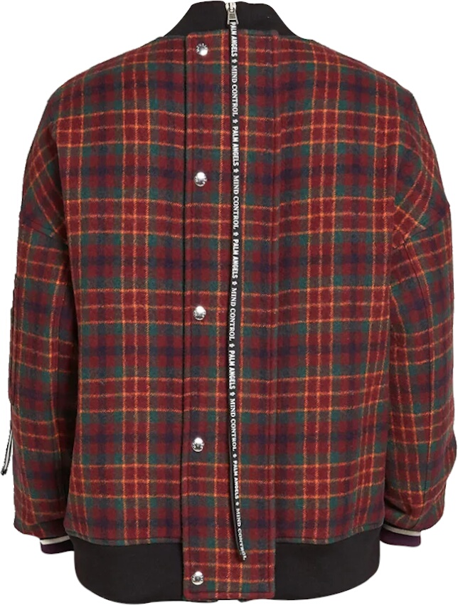 Moncler X Palm Angels Red Check Jacket