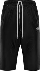 Moncler X Rick Owens Black Padded Shorts