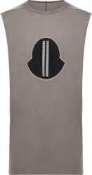 Moncler X Rick Owens Brown Sleeveless T Shirt Tank Top