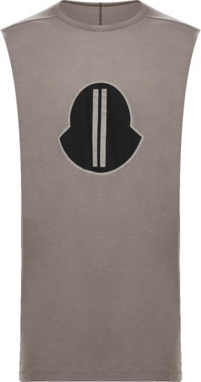 Moncler X Rick Owens Brown Sleeveless T Shirt Tank Top