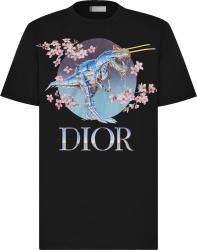 Moncler X Sorayama Black Metallic Dinosaur T Shirt