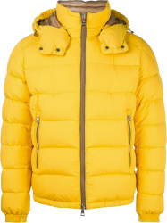 Moncler Yellow Brique Puffer Jacket Removable Liner