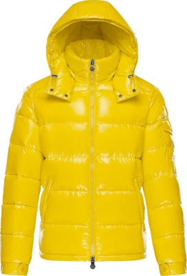 Moncler Yellow Maya Puffer Jacket