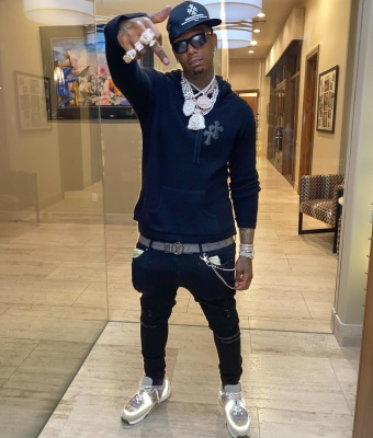 Moneybagg Yo Shows Off His Chrome Hearts And Lv Fit