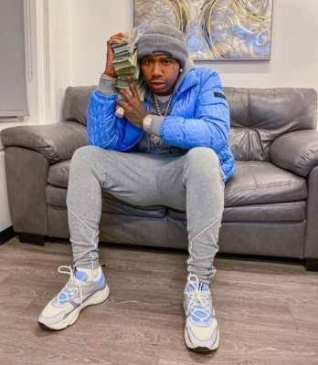 Moneybagg Yo Wearing A Dior Jacket And Sneakers