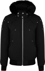 Moose Knuckles Black Ballistic Bomber Jacket