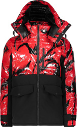 Moose Knuckles Red And Black Creston Jacket