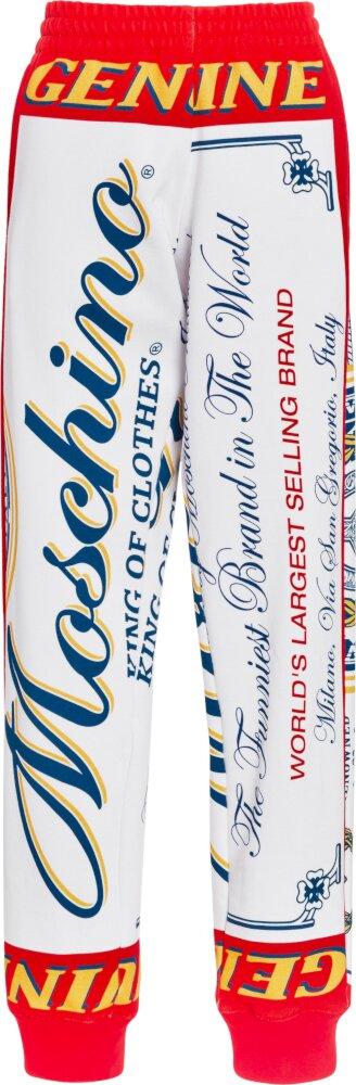 Moschino Budweiser Style Logo Print Sweatpants
