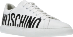 Logo Print White Sneakers