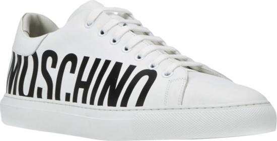 Moschino Logo Print White Sneakers