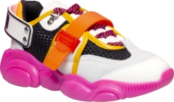 Moschino Pink And Orange Fluo Teddy Shoe Sneakers