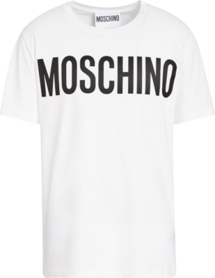 Moschino White Logo Print T Shirt