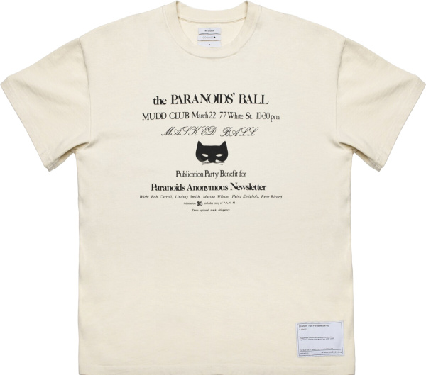 Mr Saturday White Paranoid Ball T Shirt