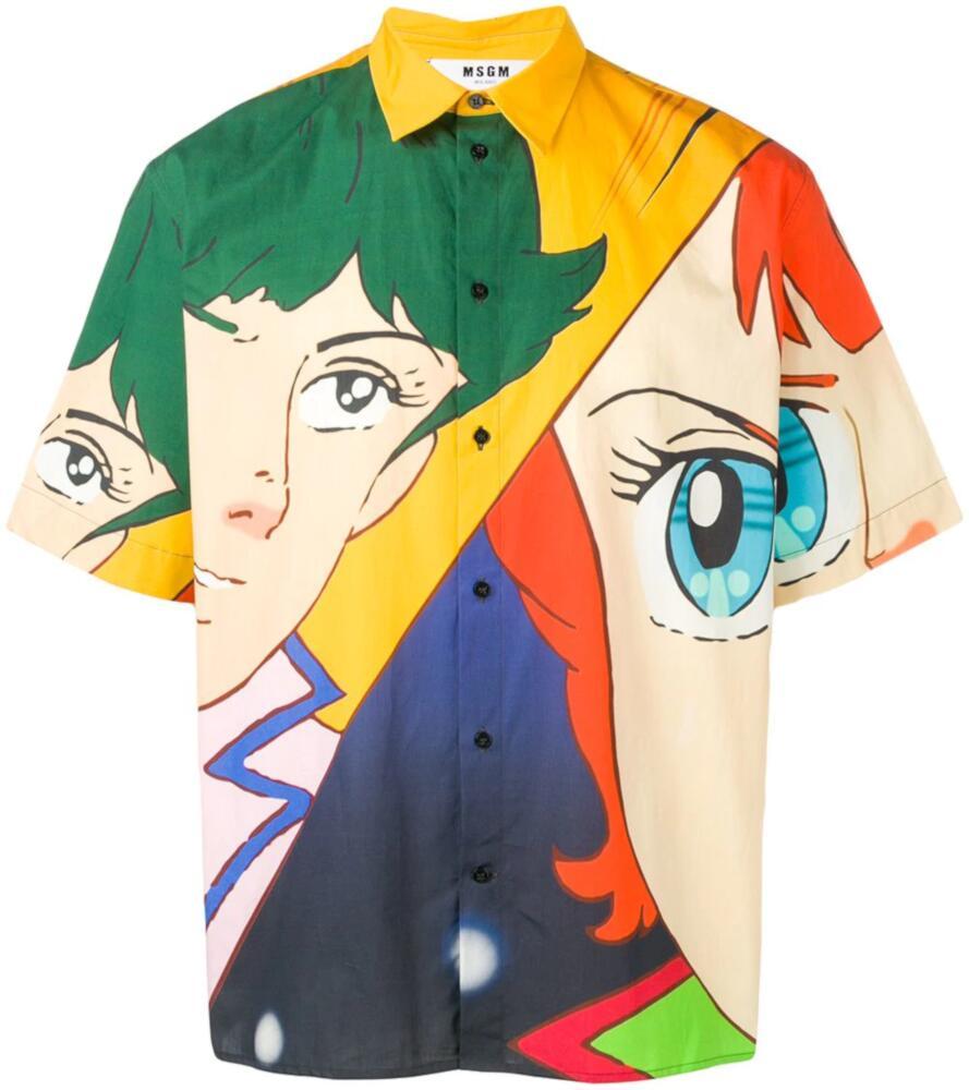 Msgm Anime Printed Short Sleeve Shirt