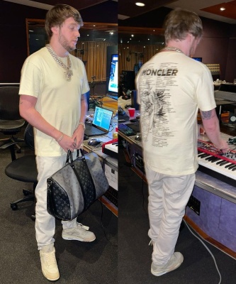 Murda Beatz Wearing A Moncler Tee With Givenchy Jeans Jordan X Off White Sneakers And A Louis Vuitton Bag