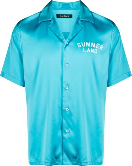 Nahmias Light Blue Summer Land Shirt