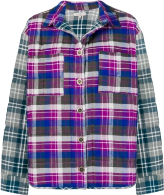 Natasha Zinko Plaid Padded Shirt Jacket