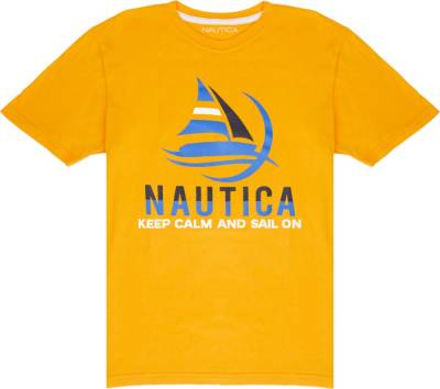 Nautica Keep Calm And Sail On Print T Shirt