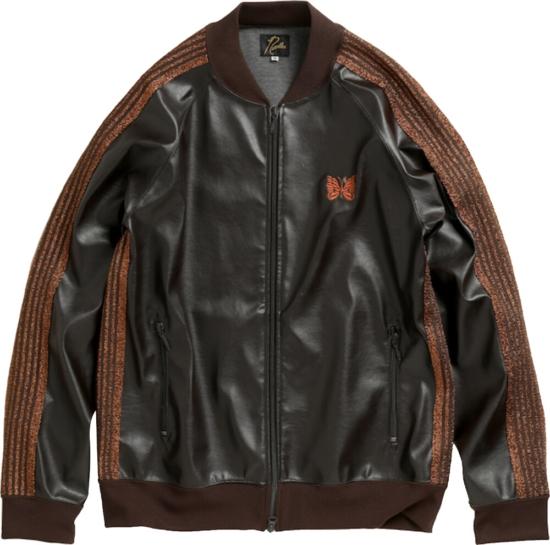 Needles Brown Leather Jacket