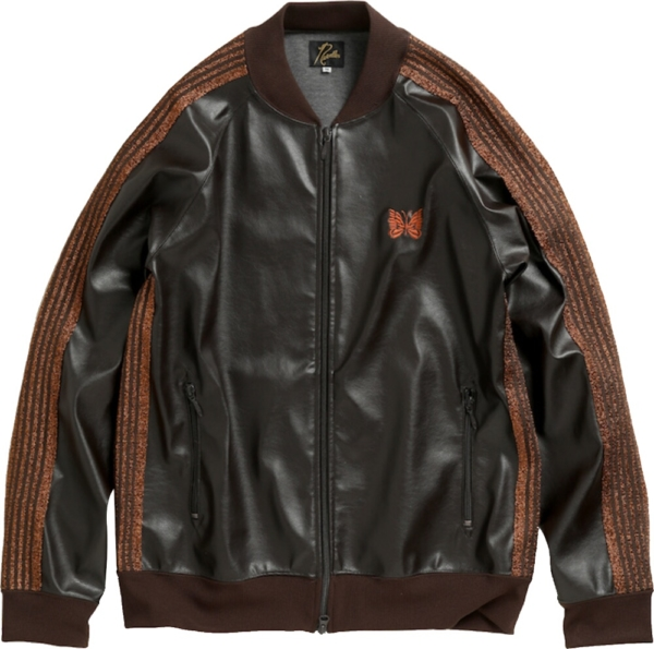 Needles Brown Leather Jacket