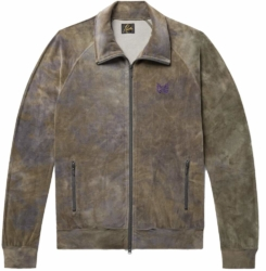 Needles Brown Tie Dye Velour Track Jacket