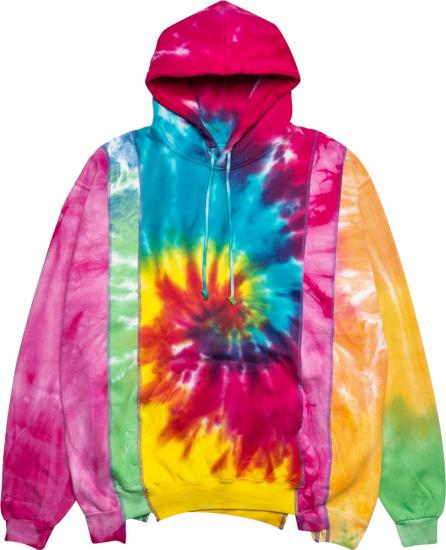 Needles Multicolor Tie Dye 5 Cuts Hoodie