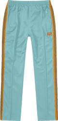 Needles X Awge Light Blue And Orange Stripe Trackpants