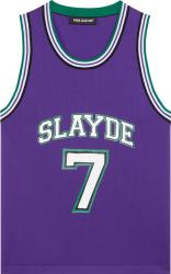 Neil Barrett Purple Slayde Basketball Jersey