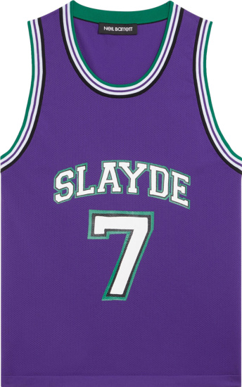 Neil Barrett Purple Slayde Basketball Jersey