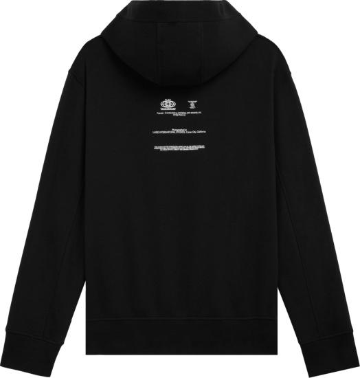 Neil Barrett X Universal Black Logos Hoodie