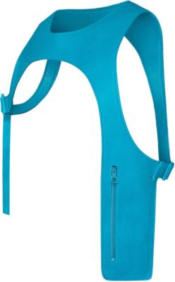 Neon Blue Louis Vuitton Calfskin Cut Away Vest Worn By Pnb Rock