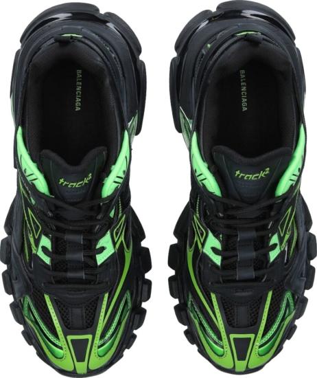Neon Green And Black Balenciaga Sneakers