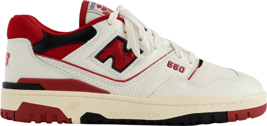 New Balance Aime Leon Dore White Red And Black 550 Sneakers