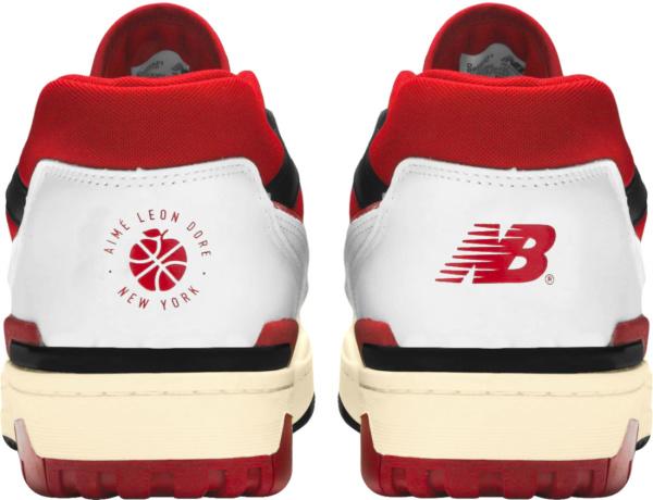 New Balance X Aime Leon Dore White Red And Black Sneakers