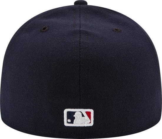 New Era Atlanta Braves Fitted Hat All Navy